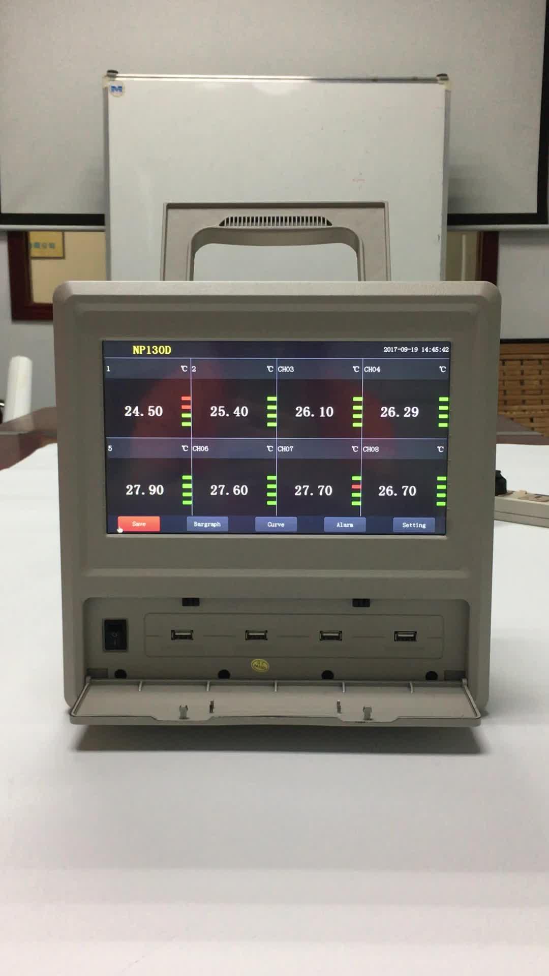 纳普科技NAPUI310T多路温湿度记录仪实际操作 厂家直销