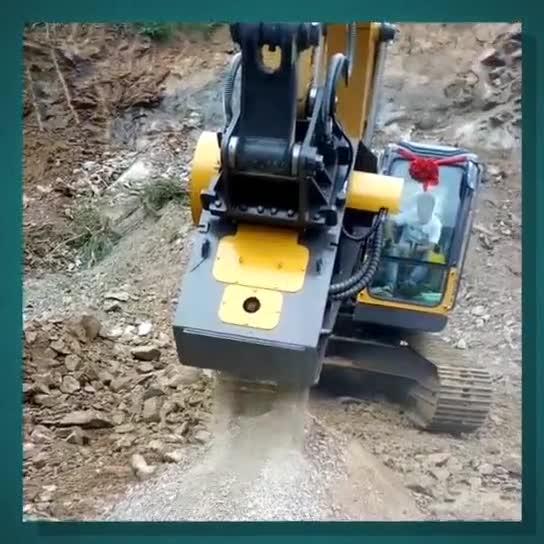 挖掘机也能做粉碎机?图片