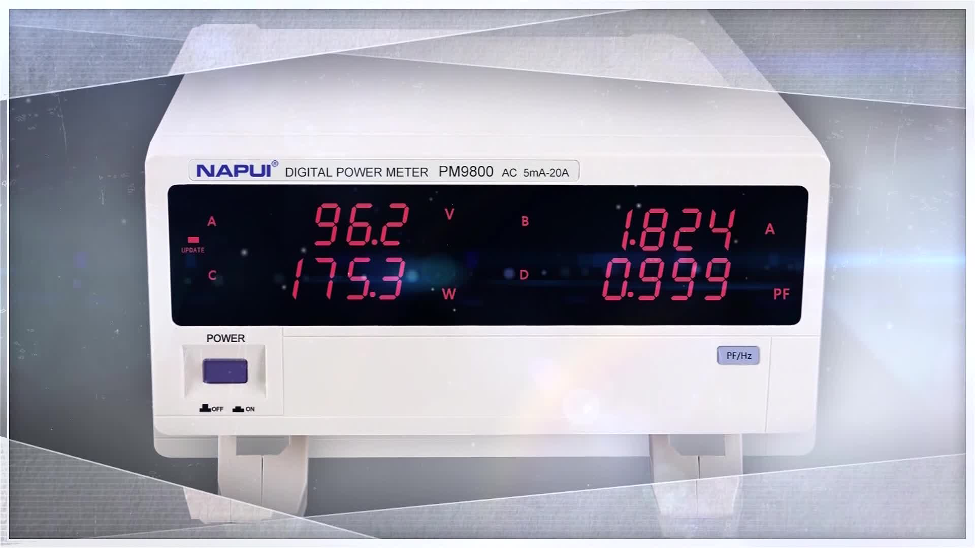 厂家直销纳普科技数字功率计PM98系列产品视频分享